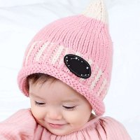 Baby Boys Girls Pacifier Shape Knitted Wool Cap Cute Winter Warm Hat Babies Lovely Knitted Cap Hat Accessories